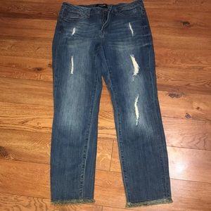 Denim - Women's Distressed Jeans Size 15